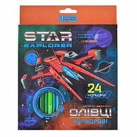 Карандаши 24 цв. Star Explorer 1 Вересня 290550