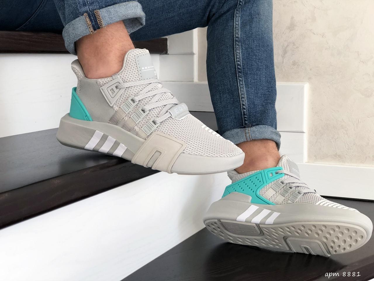 Мужские кроссовки Adidas Equipment adv 91-18 (светло-серые) 8881