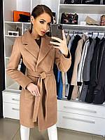 Женское демисезонное пальто  Беата мокко цвета