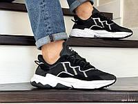 Мужские кроссовки Adidas Ozweego TR (черно-белые) 8884