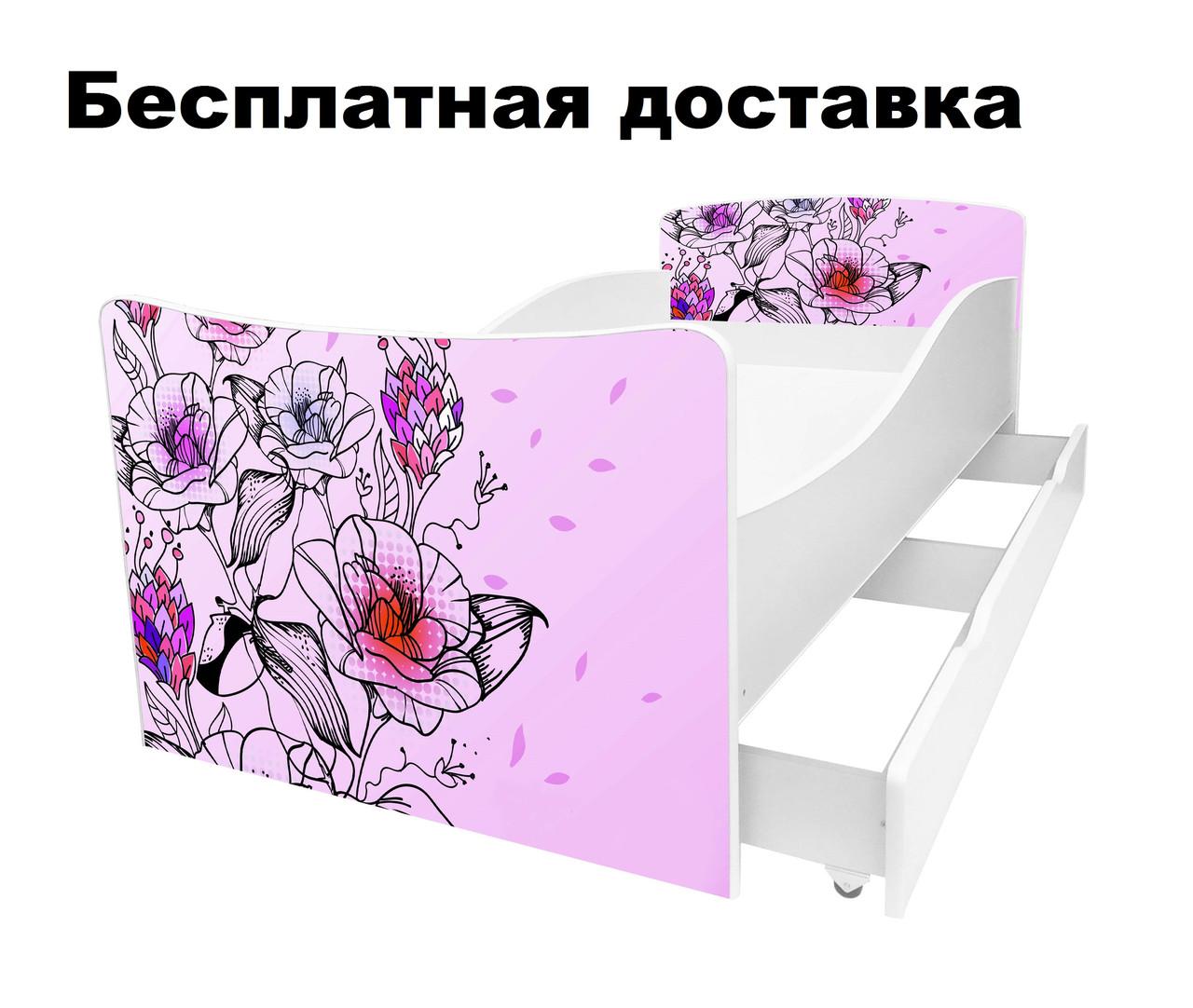 Детская кровать цветы сакура