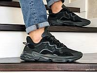 Мужские кроссовки Adidas Ozweego TR (черные) 8885