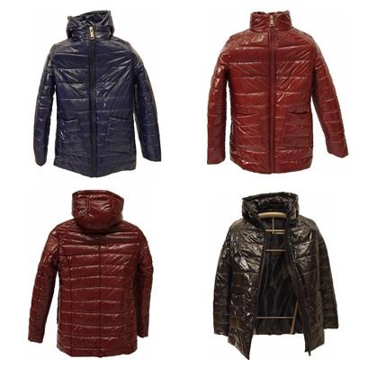 Жіноча демісезонна куртка з плащової тканини з накладною кишенею, батал, ОПТ, модель Юлія Лак, розміри 48 - 54