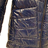 Жіноча демісезонна куртка з плащової тканини з накладною кишенею, батал, ОПТ, модель Юлія Лак, розміри 48 - 54, фото 3