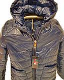 Жіноча демісезонна куртка з плащової тканини з накладною кишенею, батал, ОПТ, модель Юлія Лак, розміри 48 - 54, фото 4
