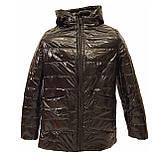 Жіноча демісезонна куртка з плащової тканини з накладною кишенею, батал, ОПТ, модель Юлія Лак, розміри 48 - 54, фото 8