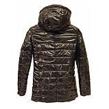 Жіноча демісезонна куртка з плащової тканини з накладною кишенею, батал, ОПТ, модель Юлія Лак, розміри 48 - 54, фото 10