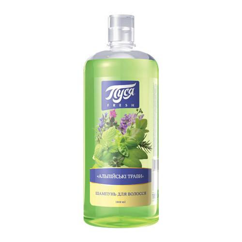 """Натуральный шампунь для волос """"Альпийские травы"""" - 1 л"""