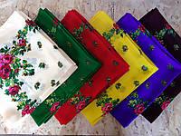 Шерстяной головной платок Розочка  (без люрекса) опт 10шт.