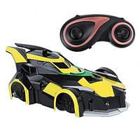 Антигравитационная машинка радиоуправляемая игрушка Wall Climber MX-08 Yellow