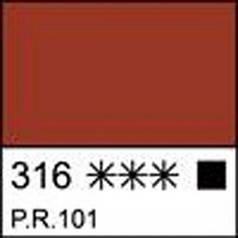 Краска темперная МАСТЕР-КЛАСС железная красная, 46мл ЗХК 351797