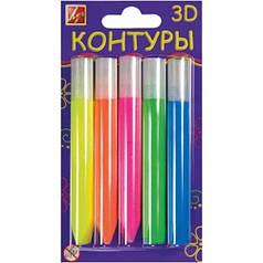Набор контуров 3Dфлуоресцентные 5 цв 10мл 23С1438-08 350943