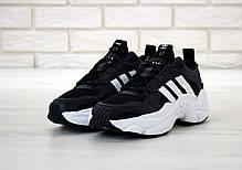 Мужские кроссовки Ad Consortium Naked Magmur Runner Black White. ТОП реплика ААА класса., фото 2