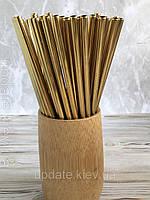 Металлические трубочки для напитков, стальные, цвет «Золото»