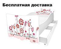 Детская кровать цветы, фото 1