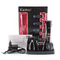 Беспроводная машинка для стрижки Kemei LFQ-KM-590A 7в1 батарея 600 мА до 40мин, от 1 до 20мм
