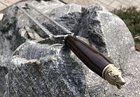 """Шампур для птицы с деревянной ручкой """"Медведь"""" (двойной шампур для перепелов) (70см,1шт)"""