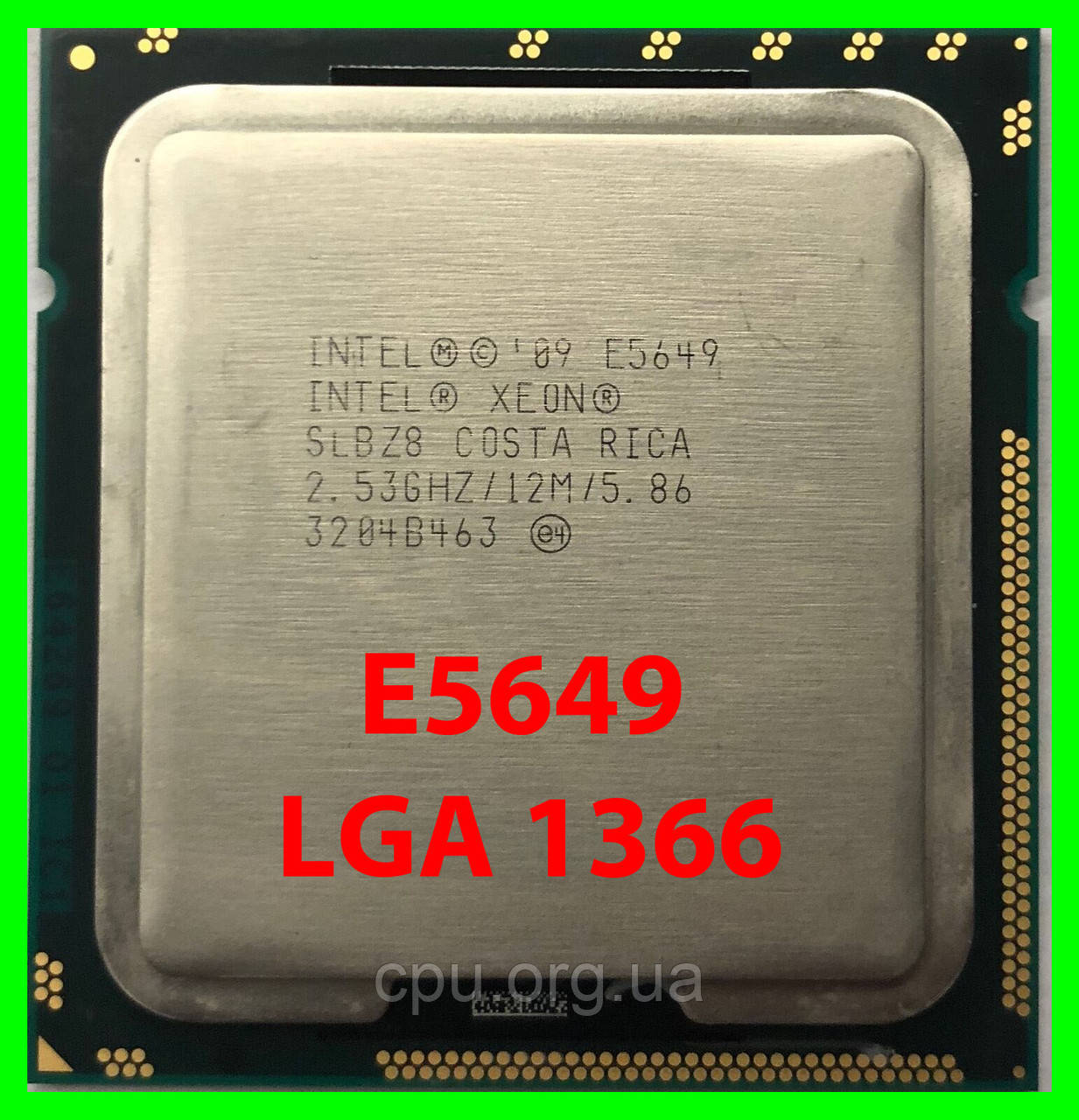 Процессор Intel Xeon E5649 (SLBZ8) 6/12 2,53-2,93 Ghz / 12M / 5.86GT/s LGA 1366