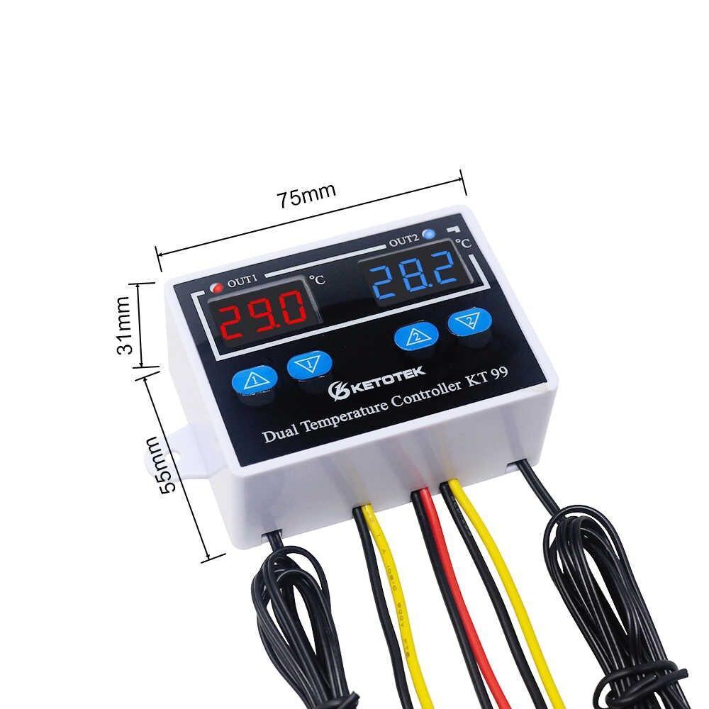 Термостат Терморегулятор двозонний KT99 220В