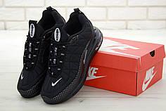 Мужские кроссовки Nike Air Max 720 - 818 Black. ТОП Реплика ААА класса.