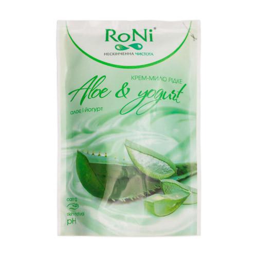"""Жидкое крем-мыло """"RONI"""" из ар. алое-йогурт - дой-пак, 450 мл"""