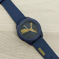 Яркие женские наручные часы Puma синие с черным
