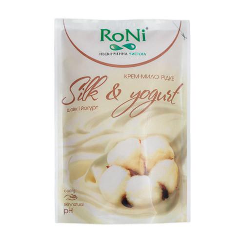 """Жидкое крем-мыло """"RONI"""" шёлк-йогурт - дой-пак, 450 мл"""