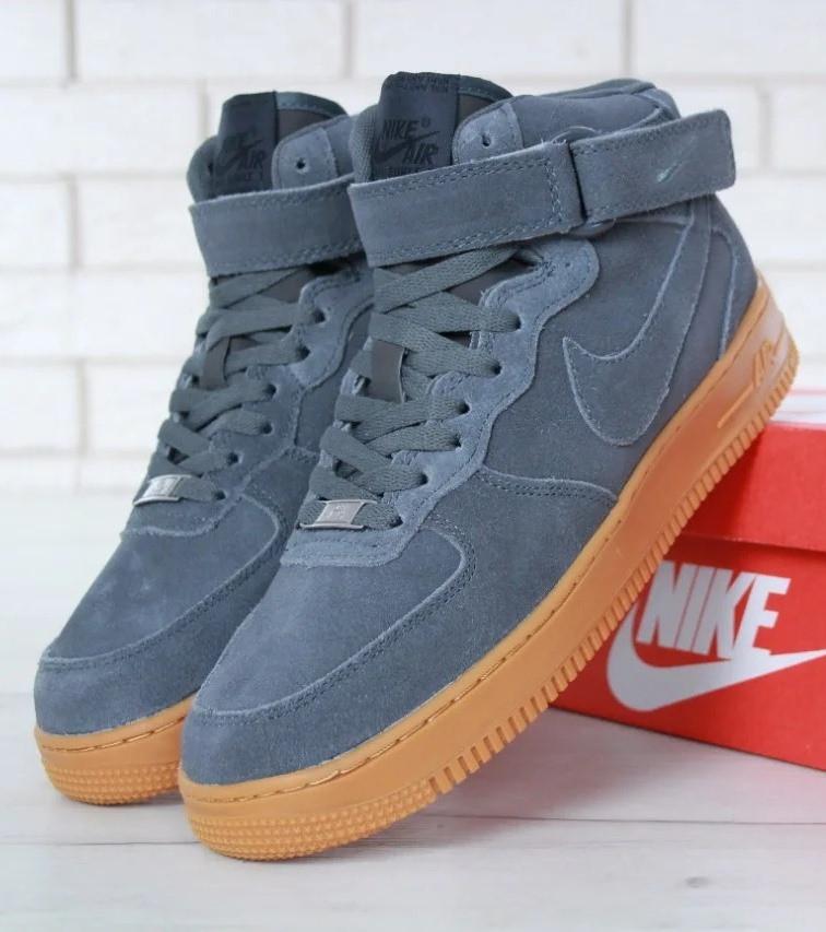Зимние мужские кроссовки Nike Air Force 1 Mid Winter, найк аир форс зима c мехом