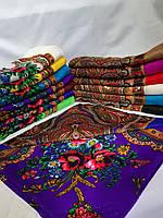Шерстяной головной платок c глитером (люрекс) опт 10шт.