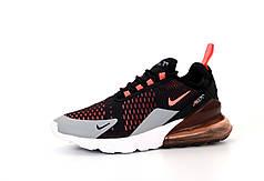 Мужские кроссовки Nike Air Max 270. Black Grey. ТОП Реплика ААА класса.