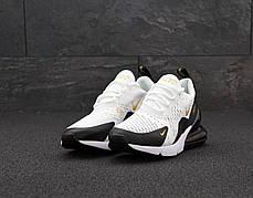 Мужские кроссовки Найк Nike Air Max 270. White Black. ТОП Реплика ААА класса., фото 3