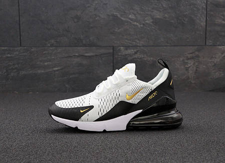 Мужские кроссовки Найк Nike Air Max 270. White Black. ТОП Реплика ААА класса., фото 2