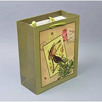 """Подарочный пакет """"Птичка"""" TF409, 26*32*12,5 см, Пакет для подарков, Упаковка подарков, Пакеты бумажные подарочные"""