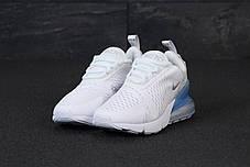 Женские кроссовки Nike Air Max 270. White Silver . ТОП Реплика ААА класса., фото 2