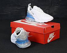 Женские кроссовки Nike Air Max 270. White Silver . ТОП Реплика ААА класса., фото 3