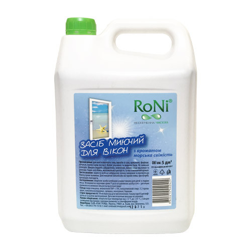 """Средство для мытья стекол """"RONI"""" Морская свежесть (5 л)"""