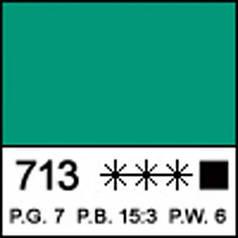 Краска акриловая МАСТЕР-КЛАСС, изумрудно-зеленая 46мл ЗХК 351440
