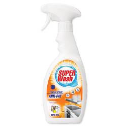 Моющее и чистящее средство для мытья кухни Super Wash с ар. апельсина - тригер, 0.5 л