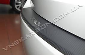 Накладка на задний бампер BMW X5 II (E70) 06` ( с загибом + карбон)