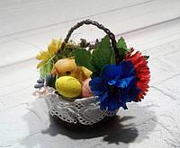 Декоративная маленькая корзинка к Пасхе - Пасхальные подарки и украшения, фото 1