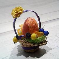 Пасхальная декоративная корзинка - Пасхальные подарки и украшения.Пасхальные поделки в школу и дет сад