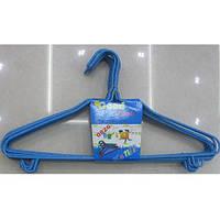 """Вешалка просиликоненая """"Стандарт"""" R85357 синий, в упаковке 10шт, 42см, пластик/ металл, вешалки и тремпели, вешалки, вешалка для одежды, вешалка"""