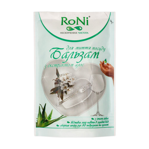 "Средство для мытья посуды ""RONI"" Алое Бальзам Дой-Пак (0.45 л)"