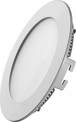 Светодиодная панель SL6 R 6W 3000K  круг белый Код.58451, фото 2