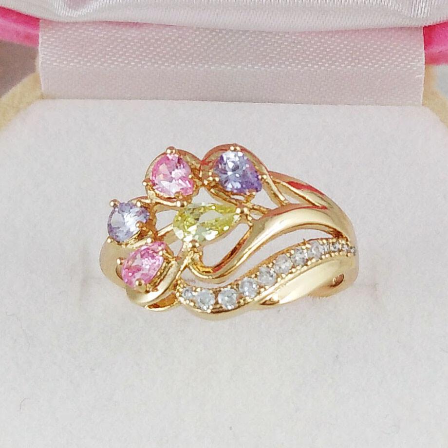 Кольцо Xuping Jewelry размер 19 Дебора медицинское золото позолота 18К А/В 4854