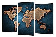 Модульная картина Декор Карпаты 163х99 Карта мира (285)
