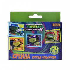 Мел цветной круглый 24 штNinja Turtles 400197