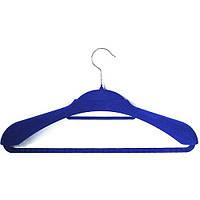 """Вешалка с велюровым покрытием """"Костюм"""" R85340 синий, пластик, металл, 45см, вешалки и тремпели, вешалки, вешалка для одежды, вешалка"""