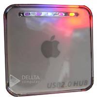 Хаб 4х портовый 2.0 Apple GT-20, USB, серый, хаб для Пк и ноутбука, мини хаб, Картридер, Карт ридеры, Cardreader