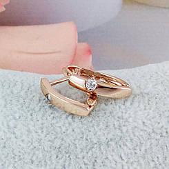 Серьги Xuping Jewelry Ева медицинское золото, позолота РО английский замок  А/В 4861